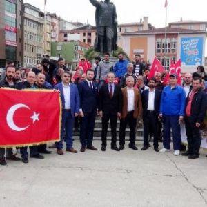 Rize'de Chp Genel Başkanı Kılıçdaroğlu'na Tepki Eylemi