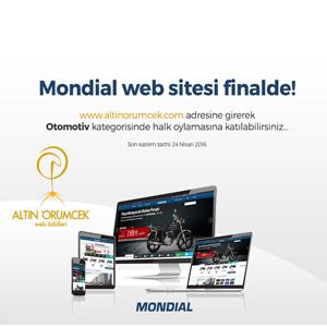 Altın Örümcek Web Ödülleri'nde MONDIAL Finalde