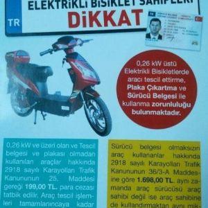 Emniyetten 'Elektrikli Bisiklet' Uyarısı