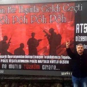 Bolu'da 2 Teröristi Öldüren Polis Özel Harekat'a Teşekkür Afişi