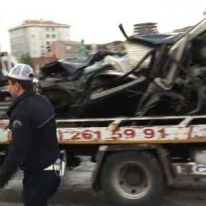 Tem Otoyolu'nun Edirne Yönü Zincirleme Kaza Nedeniyle Kapalı (1)
