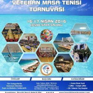 Çeşme'de Uluslararası Masa Tenisi Turnuvası