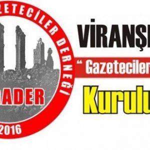 Viranşehir Gazeteciler Derneği Kuruluyor.