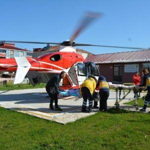 84 Yaşındaki Hasta İçin Havalandı