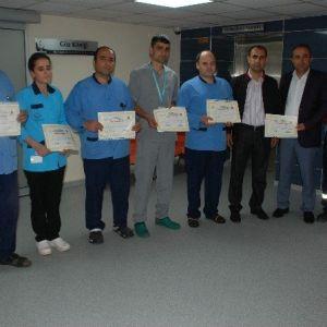 Selahattin Eyyubi Hastanesi'nde Ayın Personellerine Teşekkür Belgesi