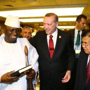 Cumhurbaşkanı Recep Tayip Erdoğan Gambiya Devlet Başkanı Ve Umman Meclis Başkanı İle Görüştü