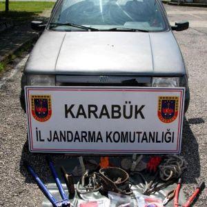 Karabük'te Kablo Hırsızlığına 4 Gözaltı