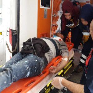 İşçi Taşıyan Münibüs Devrildi:7 Yaralı