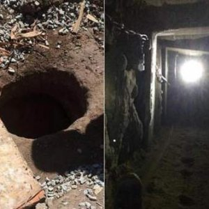 800 metrelik asansörlü tünel bulundu