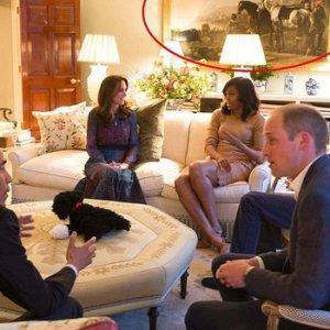 Obama'nın ziyaretinde o tabloyu sakladılar