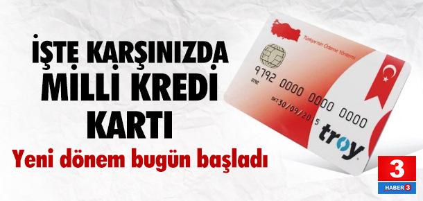 Milli kredi kartı TROY kullanıma açıldı