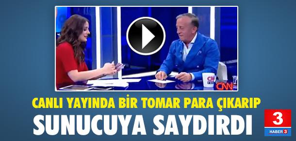 Ali Ağaoğlu canlı yayında cebindeki parayı saydırdı