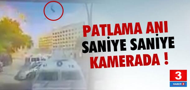 Gaziantep'teki patlama anı kamerada !