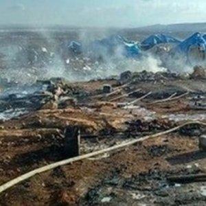 Türkiye sınırındaki kamp vuruldu: 28 ölü