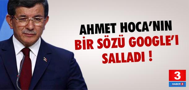 Davutoğlu ''refik'' dedi, Google sallandı !