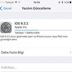 iOS 9.3.2 güncellemesi yayınlandı