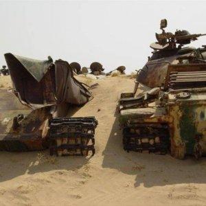 Çölde bulunan tank mezarlığı...