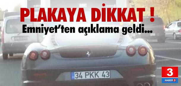 PKK plakalı araç için açıklama geldi
