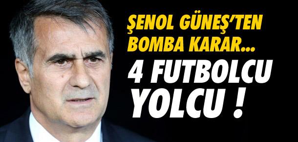 Beşiktaş'ta 4 ismin bileti kesildi