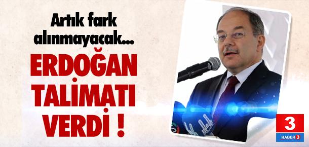 Erdoğan talimatı verdi ! Fark kalkacak...