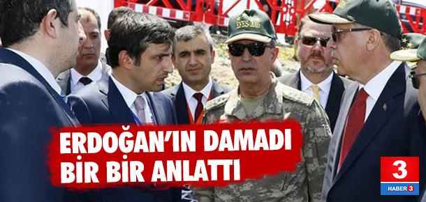 Erdoğan'ın damadı insansız hava aracını tanıttı