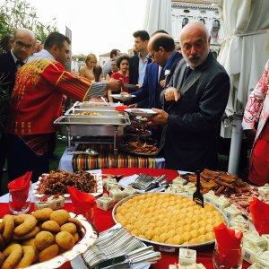 Gaziantep mozaikleri ve yemeklerine Venedik'te büyük ilgi