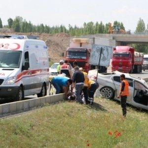 AK Partili başkan kaza yaptı