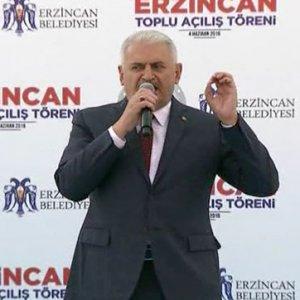 Başbakan Yıldırım, memleketi Erzincan'da konuştu