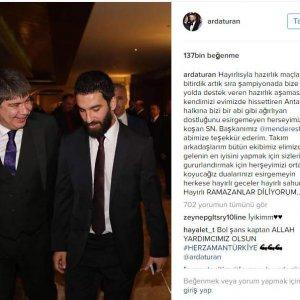 Kaptan Arda'dan Başkan Türel'e teşekkür