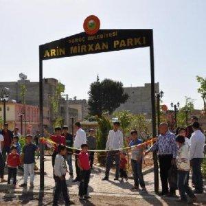 Skandal ! Suruç'taki parka canlı bombanın adı verildi