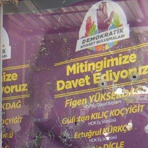 HDP binasına 8 polis kurşunu !