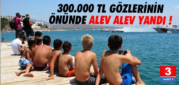 300 Bin Liralık Lüks Motoryat Alev Alev Yandı