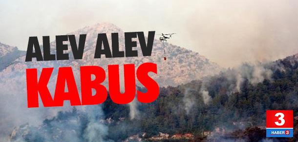 Antalya'da alev alev kabus