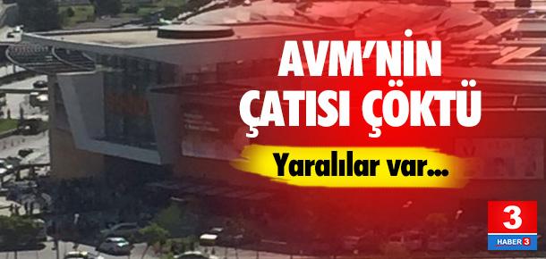 AVM'nin çatısı çöktü !