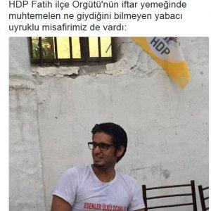 HDP iftarına öyle bir tişörtle katıldı ki...