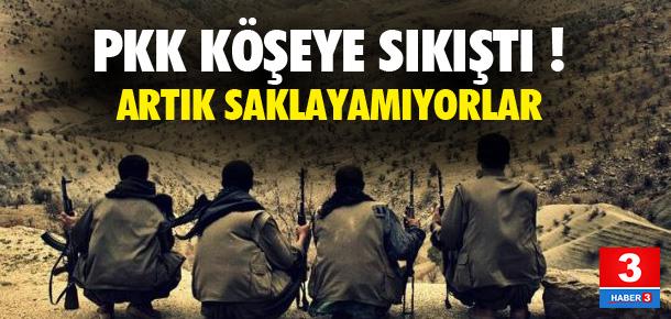 PKK köşeye sıkıştı ! Artık saklayamıyorlar