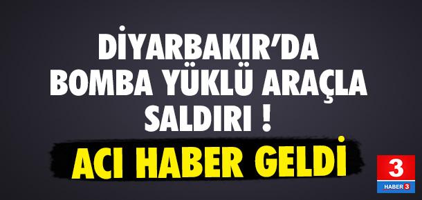 Diyarbakır'da bomba yüklü araçla saldırı: 1 şehit, 7 yaralı