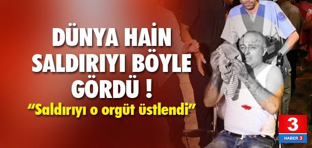 Atatürk Havalimanı'ndaki saldırı dünya basınında !