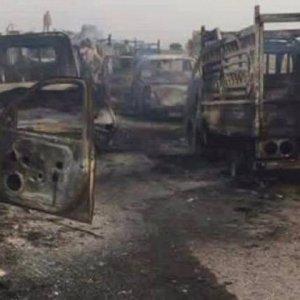 IŞİD'in konvoyuna ağır darbe !