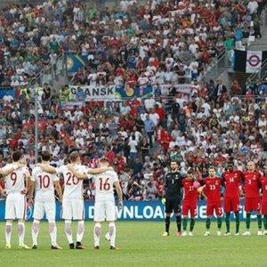 EURO 2016'da Türkiye için saygı duruşu !