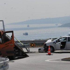 Osmangazi Köprüsü'nün ilk kazası yapıldı !