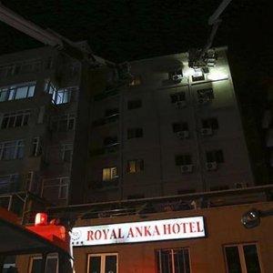 Otelde yangın paniği !