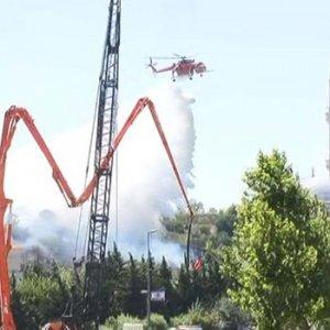 İstanbul'da askeri bölge yanında yangın !