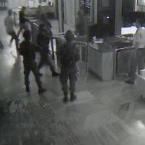 TRT binasına baskın kamerada !