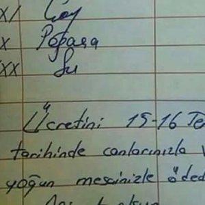 Polislerin adisyonunda yazan not sosyal medyayı salladı