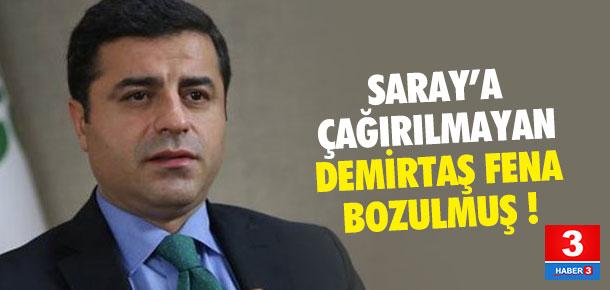 Saray'a çağırılmayan Demirtaş'tan sert sözler