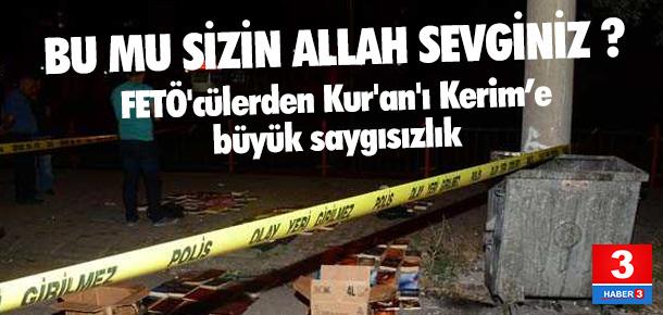 FETÖ'cüler Kur'an'ı bile sulama kanallarına atmış!