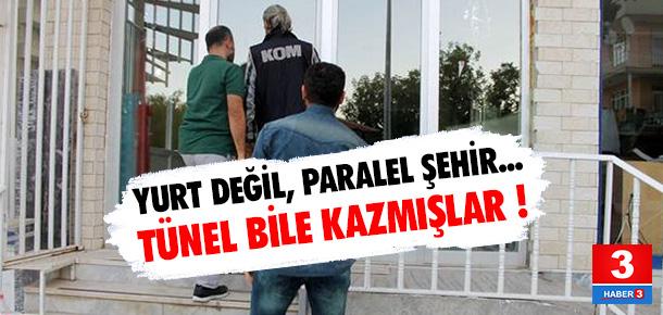 Kırşehir'de yurda baskın ! Tünel bile açmışlar