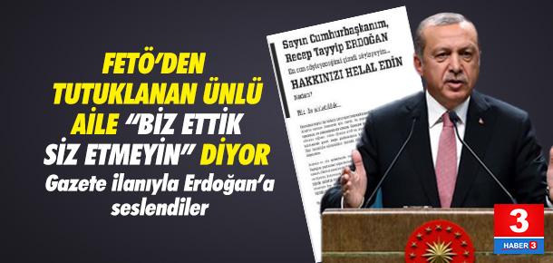 Dumankaya Ailesi Erdoğan'dan özür diledi