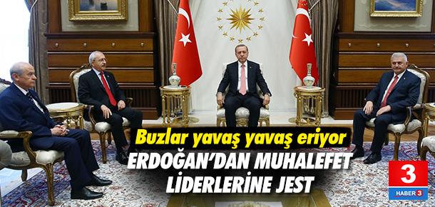 Erdoğan ile muhalefet arasında buzlar eriyor